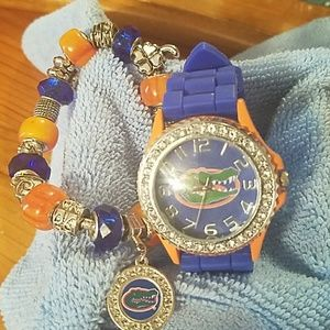 Accessories - Florida Gator watch and charm bracelet